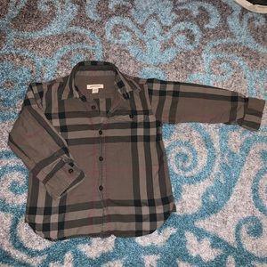 Burberry Button Down Shirt Toddler Boy size 3t